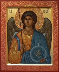 A beautiful contemporary icon of the Holy Archangel Michael. We build high quality reproduction Orthodox icons. Religious Paintings, Religious Art, Archangel Raphael, Russian Icons, Peter Paul Rubens, Guardian Angels, Art Icon, Orthodox Icons, Angel Art