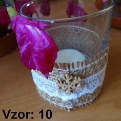 Sklenený svietnik Jarko - Sviečka - S čajovou sviečkou (plus 0,10€), Vzor - Vzor 10