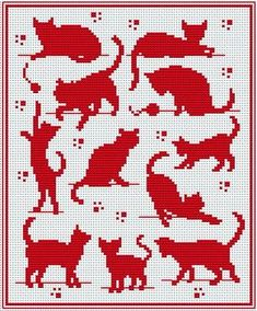 Misc. Cat Pattern for Filet Crochet - Not super great quality but enough to get an idea.