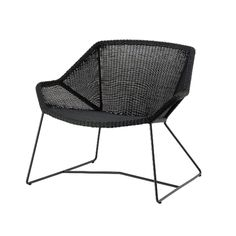 Cane-line Breeze Lounge Chair Designer: Strand + Hvass Manufactured by: Cane-line Dimensions (in): 34.25 w | 28.3 d | 28.75 h | seat 15 The Breeze collection fr