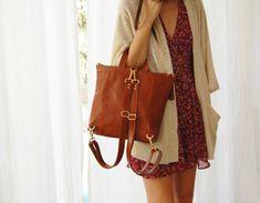 Brown leather backpack Metropolitan backpack backpack for