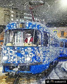Το 2017 έρχεται!  WWW.PUSHKIN.GR  Φωτο 30/12/2016 @svetosh13 Волшебный трамвайчик вернулся!  Желаю всем поймать свою удачу в новом году!  #фотодляРоссии #ρωσία #moscowbeauty #μόσχα