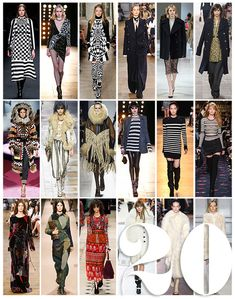 Trends for Fall / Winter 2015 / 2016 Les 20 tendances mode de l'automne-hiver 2015-2016