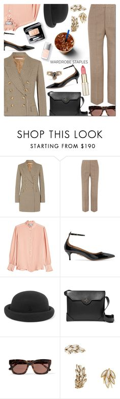 """""""Tried and True: Wardrobe Staples"""" by danielle-487 ❤ liked on Polyvore featuring STELLA McCARTNEY, Paul & Joe, Aquazzura, Maison Michel, MANU Atelier, Ganni, Yves Saint Laurent, Christian Dior, Couture Colour and WardrobeStaples"""