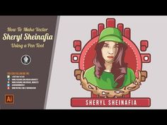 Sheryl Sheinafia Vector Portraits - Tutorial Illustrator - YouTube