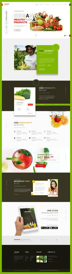 Organic farmhouse is clean and creative design #PSD template for organic #farming and #agriculture related business #eCommerce website download now➩ https://themeforest.net/item/organic-farmhouse-one-page-psd-template/19825829?ref=Datasata