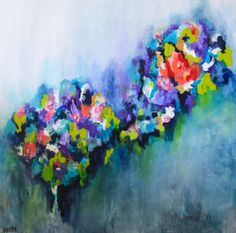"Another fun burst of color added to my #etsy shop: Wildflowers, painting, abstract art, 3/4"" thick canvas print, Brighten Your Focus http://etsy.me/2twe38F #art #print #giclee #painting #abstract #fineart #artwork #artprint #walldecor"