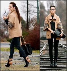 Black and tan.. I love the jacket!