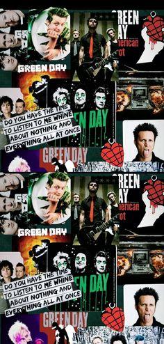 Band Wallpapers, Phone Wallpapers, Rock Band Posters, Billie Joe Armstrong, Metallic Wallpaper, Green Day, Wedding Humor, Blogger Themes, Filmmaking