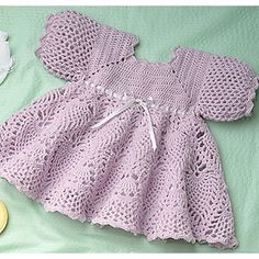 Sweet Sugarplum Dress to Crochet for Baby ePattern