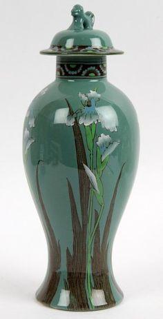 Orion Ware Woods & Son Vase and Cover Japanese Taste, Aesthetic Movement, Art For Art Sake, Ginger Jars, Art Director, Pottery Art, Renaissance, Woods, Hand Painted