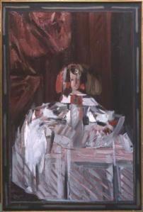 Aguayo, Infante Menine en rose, huile sur toile, 195x130cm, 1960/1961