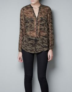 Camo Blouse. Get it at http://oaktree.storenvy.com