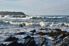A beautiful sunny November Sunday on Islay, waves breaking in Saligo Bay late in the morning.