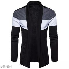 Checkout this latest Shrugs Product Name: *Classic Partywear Men Shrug* Fabric: Cotton Blend Sleeve Length: Long Sleeves Pattern: Colorblocked Multipack: 1 Sizes:  S (Chest Size: 38 in, Length Size: 45 in)  M (Chest Size: 40 in, Length Size: 45 in)  L (Chest Size: 42 in, Length Size: 45 in)  XL (Chest Size: 44 in, Length Size: 45 in)  XXL Country of Origin: India Easy Returns Available In Case Of Any Issue   Catalog Rating: ★3.9 (5007)  Catalog Name: Classic Partywear Men Shrugs CatalogID_795045 C70-SC1469 Code: 892-5346504-306