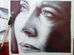 Irene Pivetti disegno a BIC su carta, 24x33cm Roma 2012