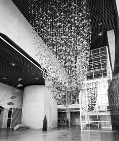 paper installations by Japanese washi artist Kyoko Ibe