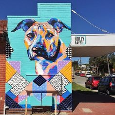 Love this dog mural via @URBANSPOON.