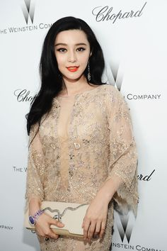 Fan Bing Bing in ELIE SAAB Haute Couture Autumn Winter 2012-13 to The Weinstein Company Academy Award Party Hosted By Chopard.