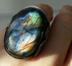 Labradorite Ring by HardCandyGems