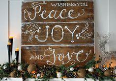 rustic christmas mantel, painting, seasonal holiday d cor