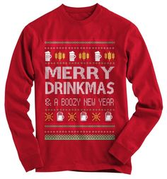 Merry Drinkmas Ugly Christmas Sweater