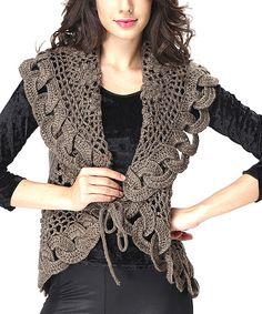 Love this Simply Couture Taupe Wool-Blend Sweater Vest by on #zulily! #zulilyfinds