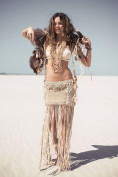 Hanalei Shell Skirt – Cream - Spell Designs