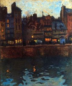 Pier of Le Havre in the Evening, 1901-Raoul Dufy - by style - Fauvism