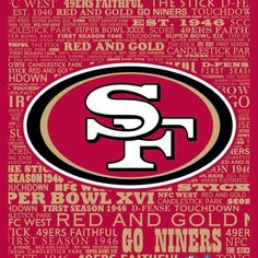 SF 49ERS Nfl 49ers, 49ers Fans, Nfl Football, Forty Niners, Sports Fanatics, Football Conference, California Love, Home Team, San Francisco 49ers