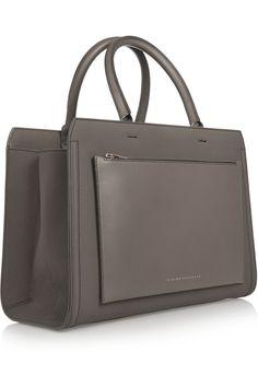 Victoria Beckham - Grey leather, City tote bag.