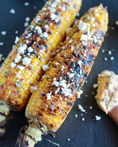 Exactly How I Grill My Corn and Chipotle Lime and Cotija Cheese Butter