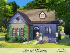 Sweet Starter is a cute, little home, perfect for small family built on 20x20 lot in Windenburg. Found in TSR Category 'Sims 4 Residential Lots'