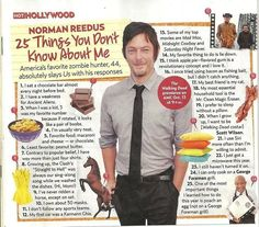 25 things you don't know about Norman Reedus