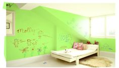 Let your kids color on the walls with this bright, fresh white board paint!