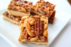 Caramel Nut Bars | All Day I Dream About Food