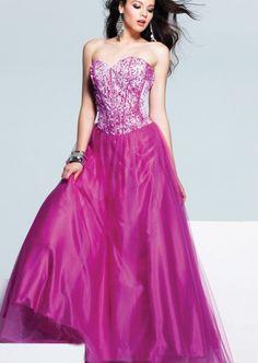 Elegant Strapless Sweetheart  Stretch Satin Prom  Dress P3151 Dress  $160.29