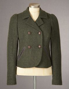 Washed Wool Jacket from Boden