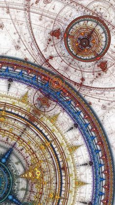 Ornate and complex astronomy charts from Tibet