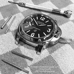 Strange how this ritual satisfies  Details matter. Attention makes the difference.  Order your custom watch strap at mhtsanders@gmail.com instagram DM or have a look athandmadewatchstrap.com Handmade by Mark Sanders #handmadewatchstrap #handmadestrap #panerai #paneristi #customwatchstrap #ammostrap #vintagestrap #officinepanerai #paneraistraps  #paneraiwatch #paneraicentral #paneraipics #watchnerd #wristshot #paneraistrap #watchstrap #watchesofinstagram #watchofinstagram #wristshot…