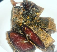 Snack 1 of day one of cycle 1 homemade biltong 30g  Perfect Lil protein snack