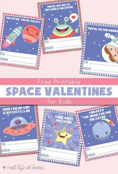 Free Printable Space Valentines for Kids with Six Fun Space Designs Free Printable Space Valentines for Kids with Six Fun Space Designs Lauren Hill LaurenVHill Valentine s Day Ideas for Little People nbsp hellip Valentine for kids Free Valentine Cards, Valentine Poster, Printable Valentines Day Cards, Free Printable Cards, Valentine's Day Printables, Valentines For Kids, Valentine Box, Valentine Crafts, Homemade Valentines