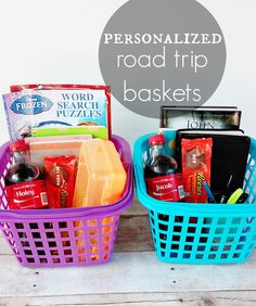Diy road trip gift basket obviously it could be for any reason road trip baskets shareyoursummer ad vacation gift negle Image collections