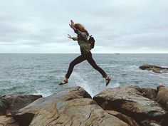 Jetty jumping. Kate Kipley on Flickr. All it takes is just a leap if faith.