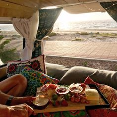 ➳ daughter of the star breather. Camper Van Life, Gypsy Living, Small Space Design, Bus Life, Next Holiday, Cool Trucks, Campervan, Outdoor Camping, Dream Life