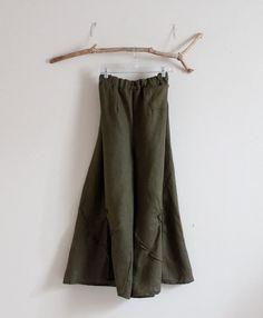 Plus size custom linen rose tucks super wide leg pants by annyschooecoclothing