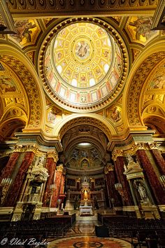 St. Stephen's Basilica, Budapest, Hungary. AKA my FAVORITE church we went to in Europe.