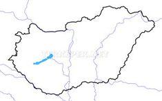 Magyarország vaktérkép folyókkal