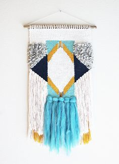 Chunky Colorblock Woven Wall Hanging by hellohydrangea on Etsy