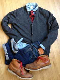 Broke and Bespoke | Today's fit. Boot: Red Wing Chukka, bought NWOT...